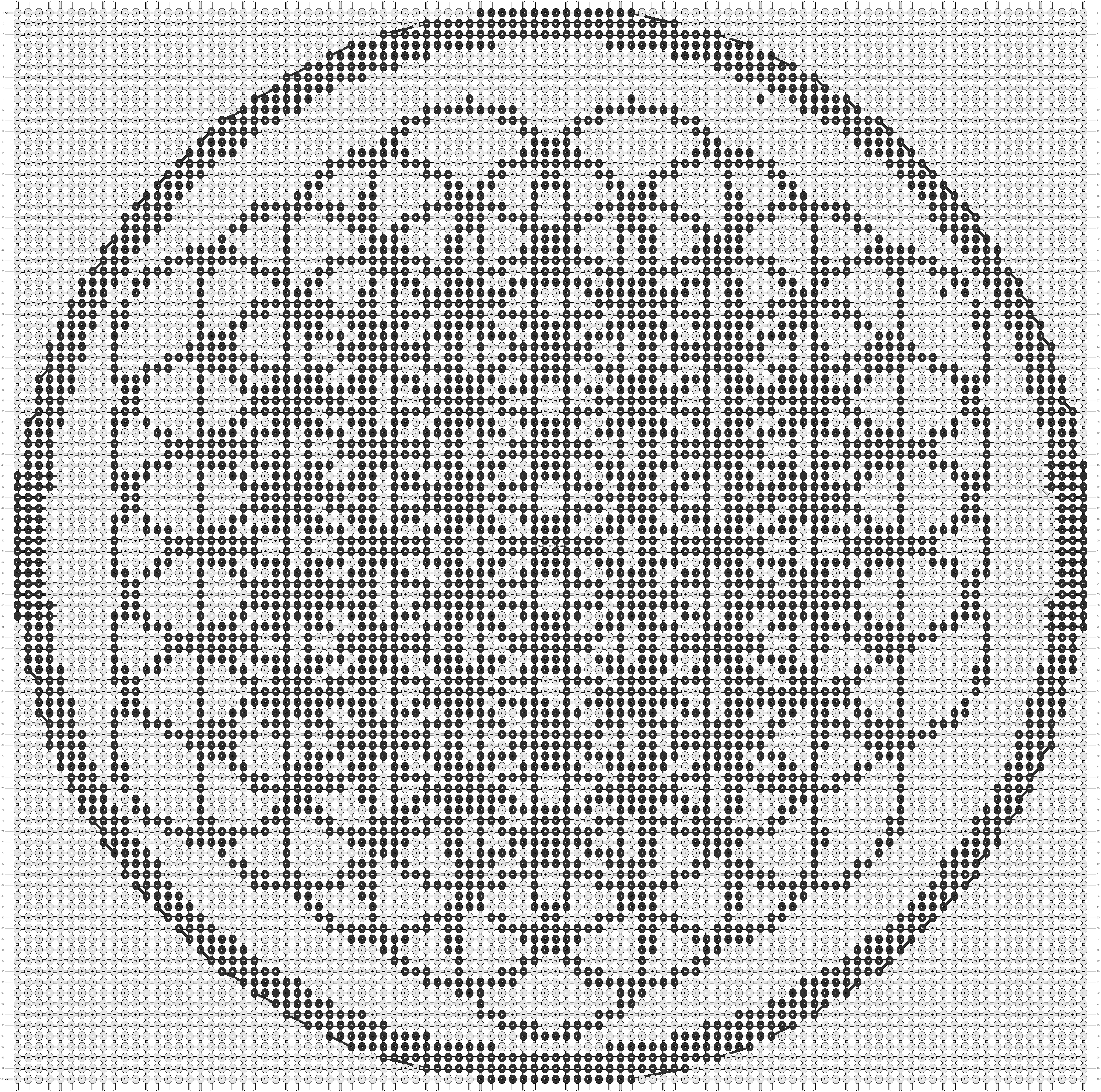 Alpha pattern #13724 pattern