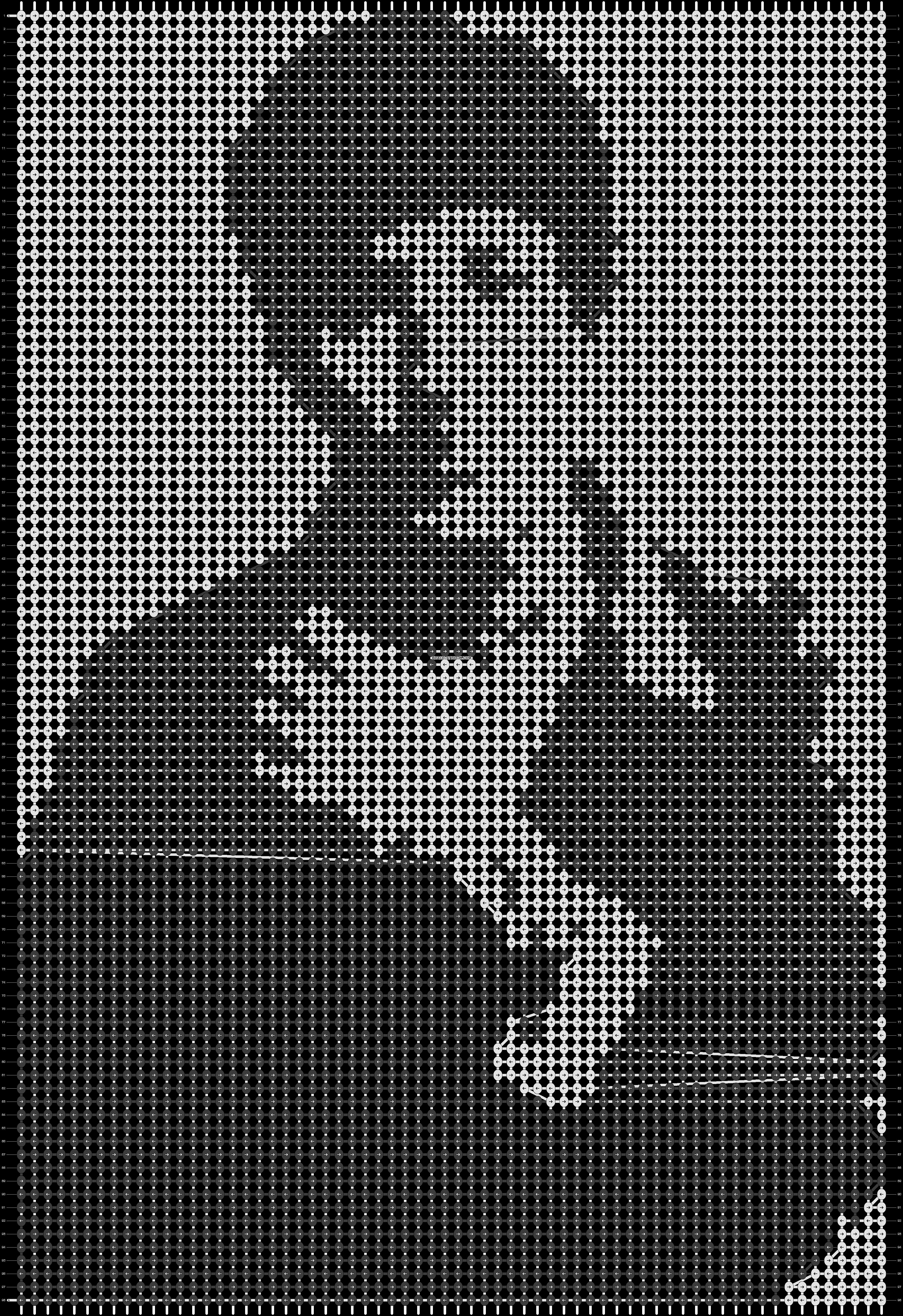 Alpha pattern #13809 pattern