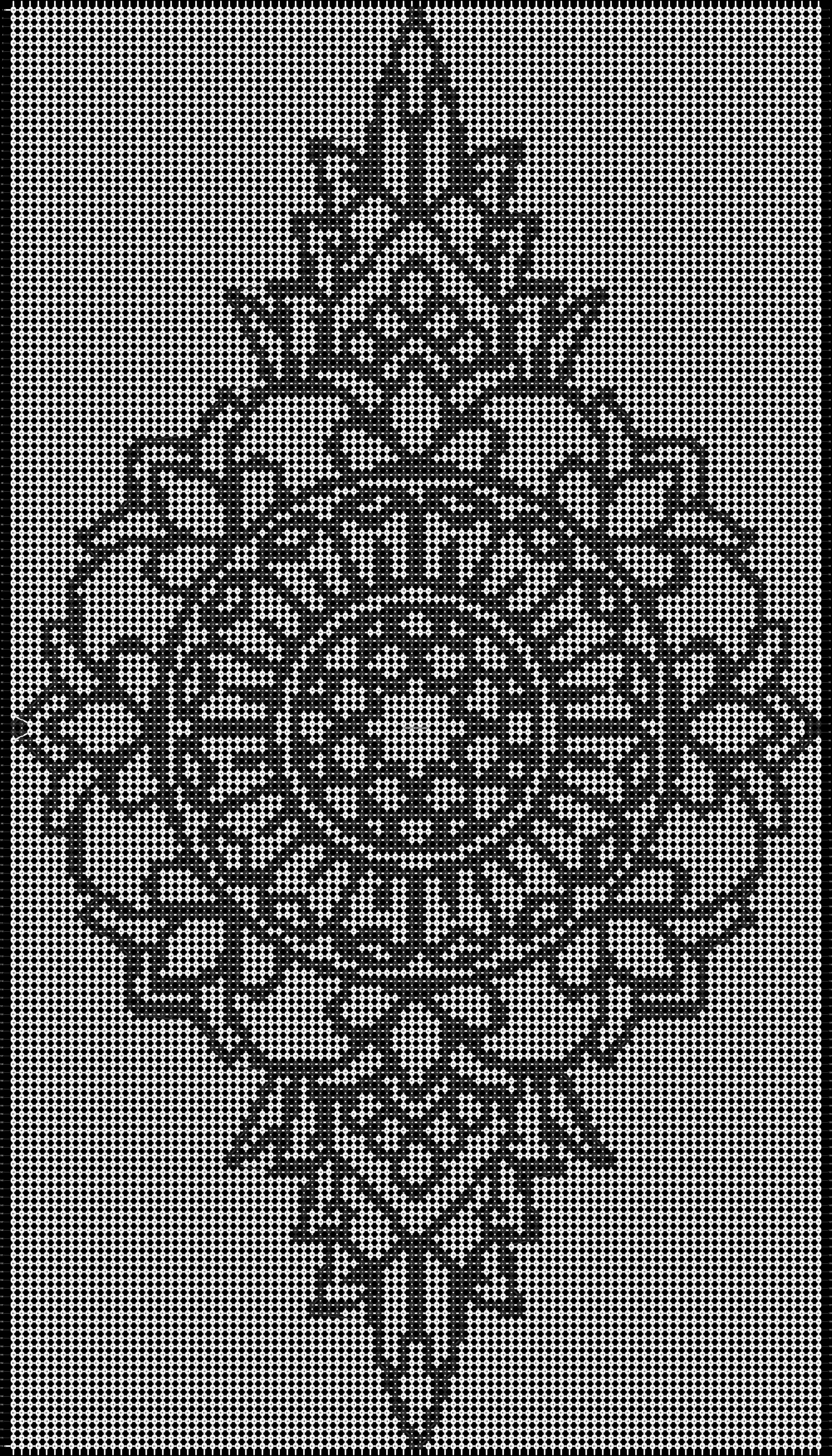 Alpha pattern #13851 pattern