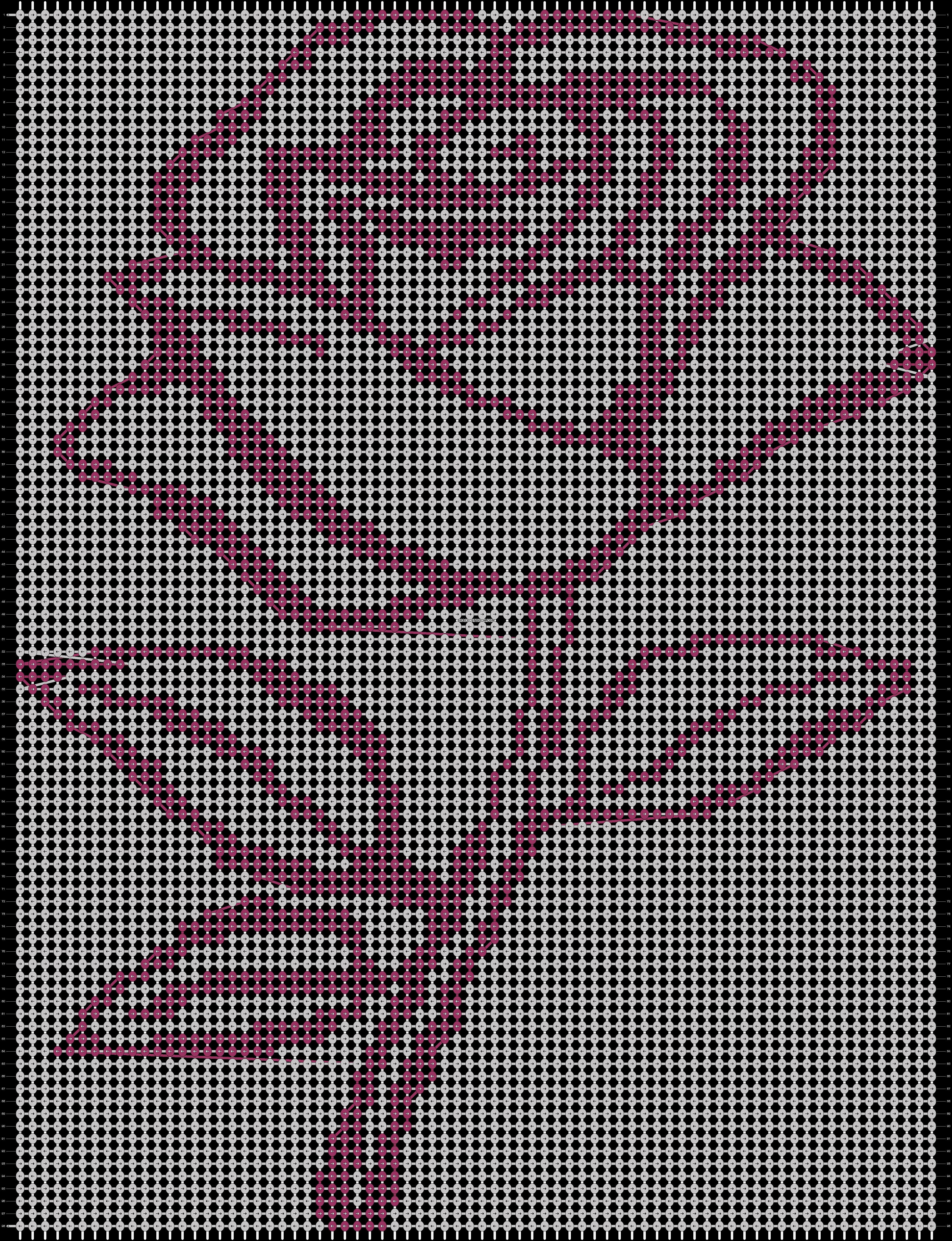 Alpha pattern #13852 pattern