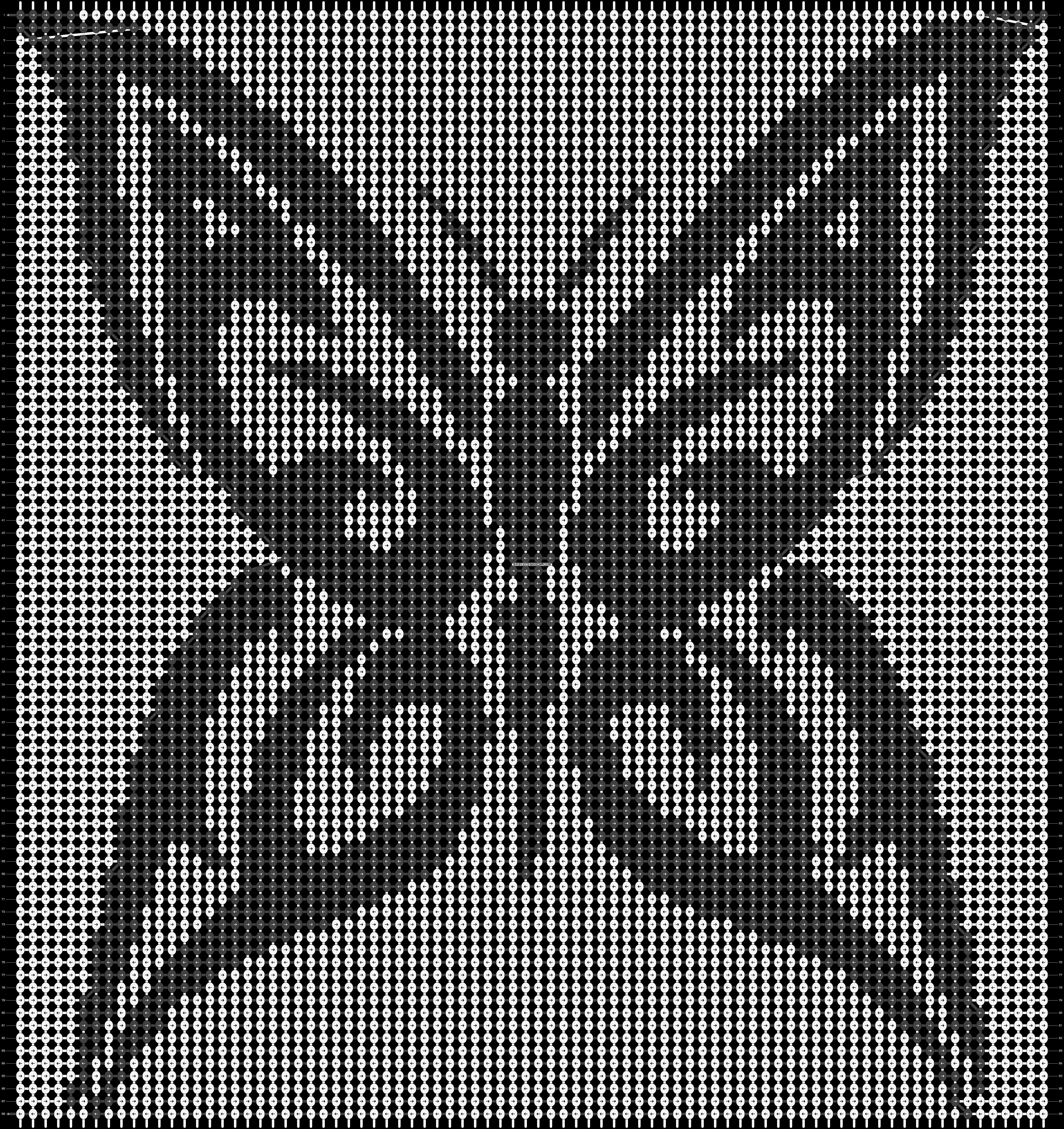 Alpha pattern #13868 pattern