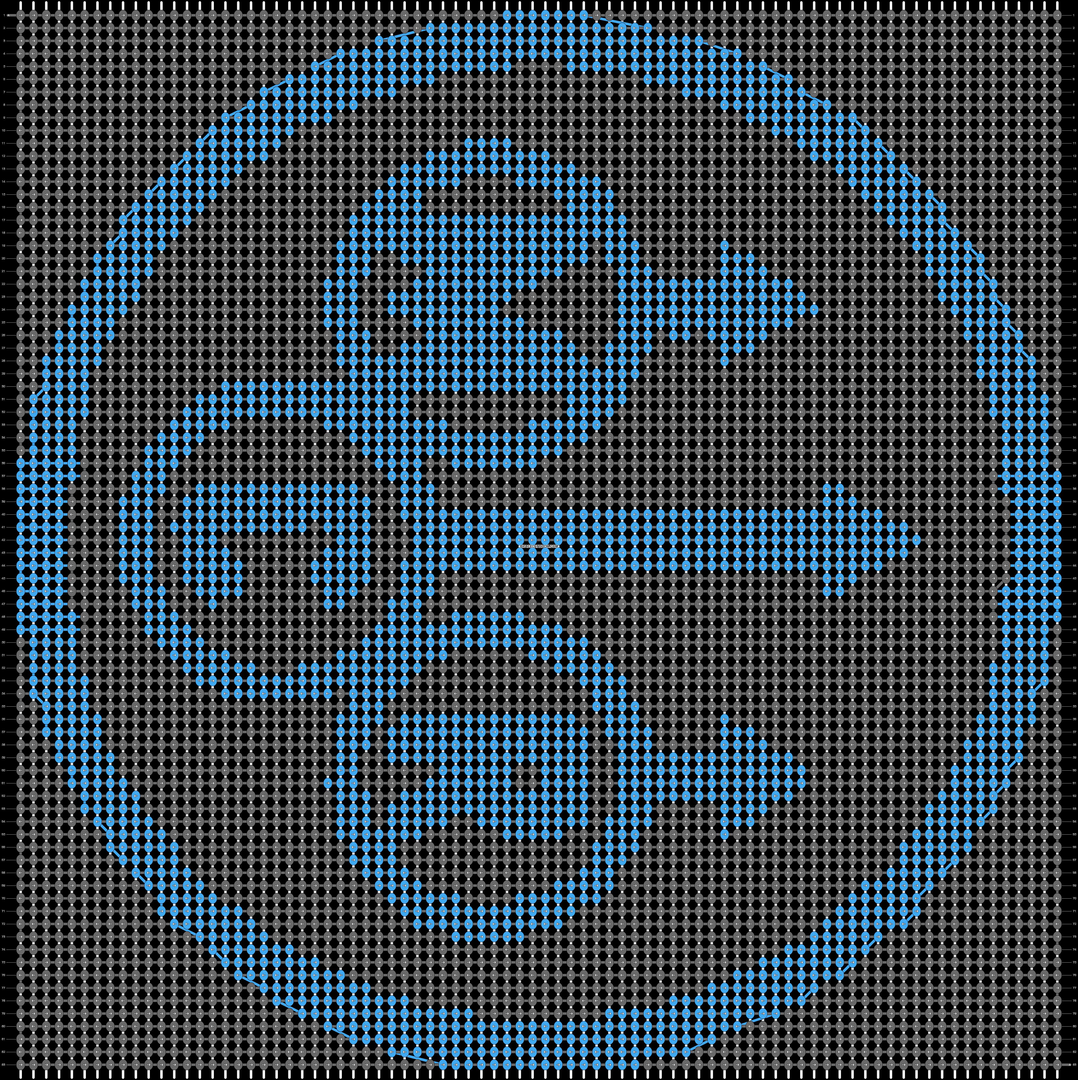 Alpha pattern #13968 pattern