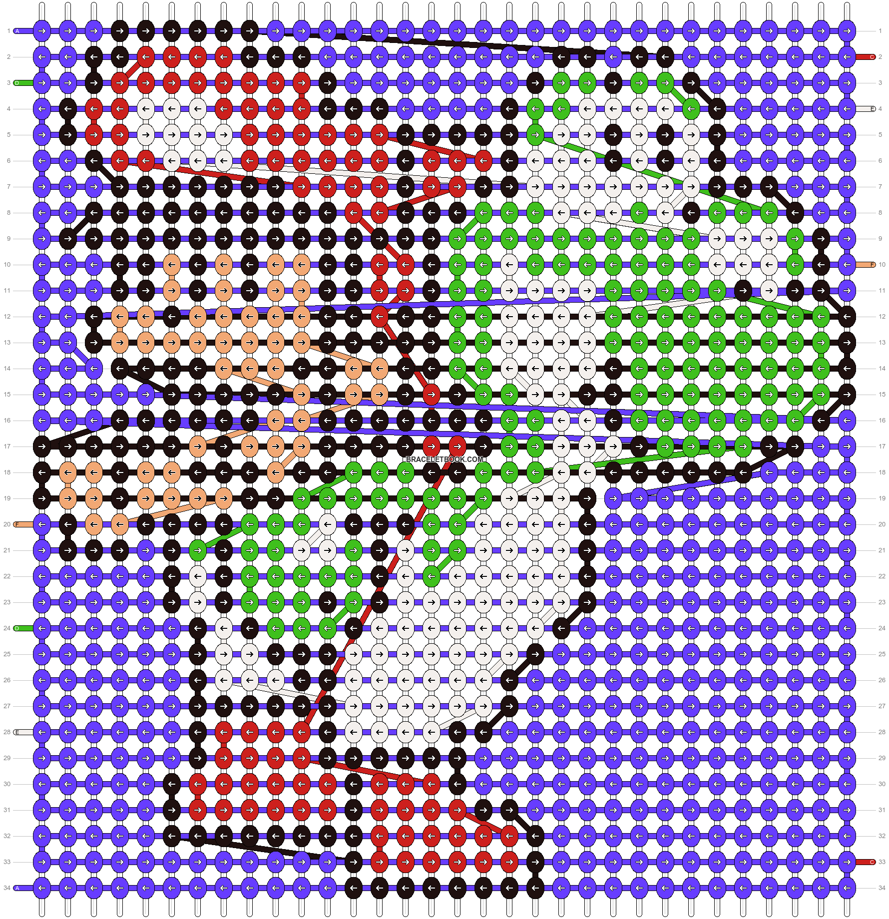 Alpha pattern #13976 pattern