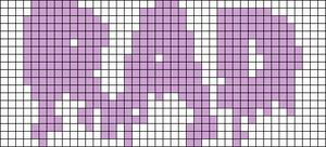 Alpha Friendship Bracelet Pattern #14003