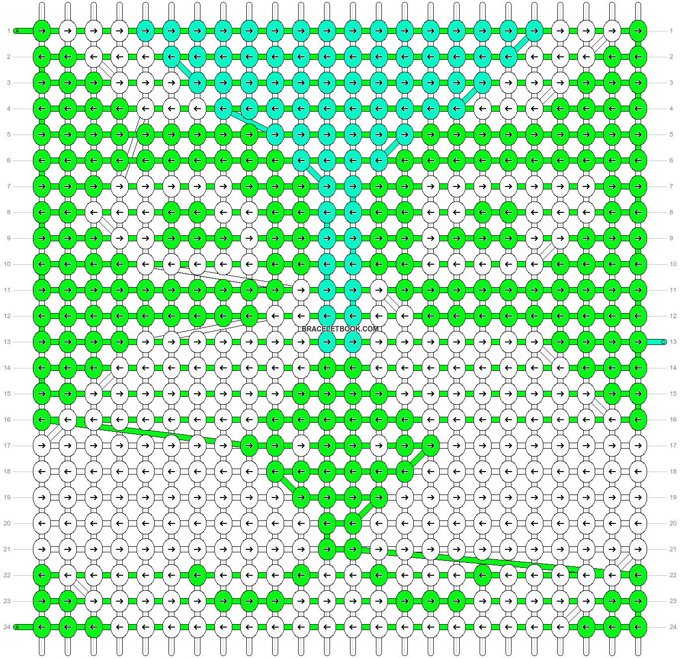 Alpha pattern #14038 pattern