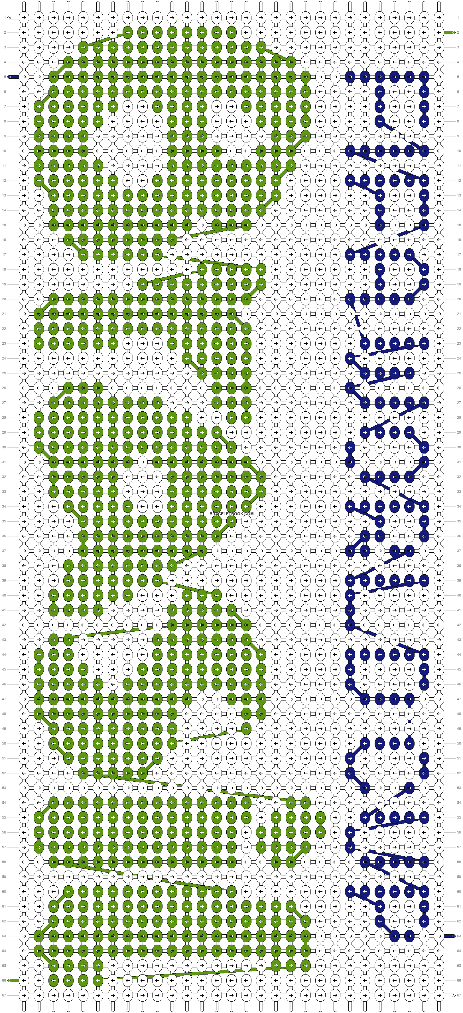 Alpha pattern #14100 pattern