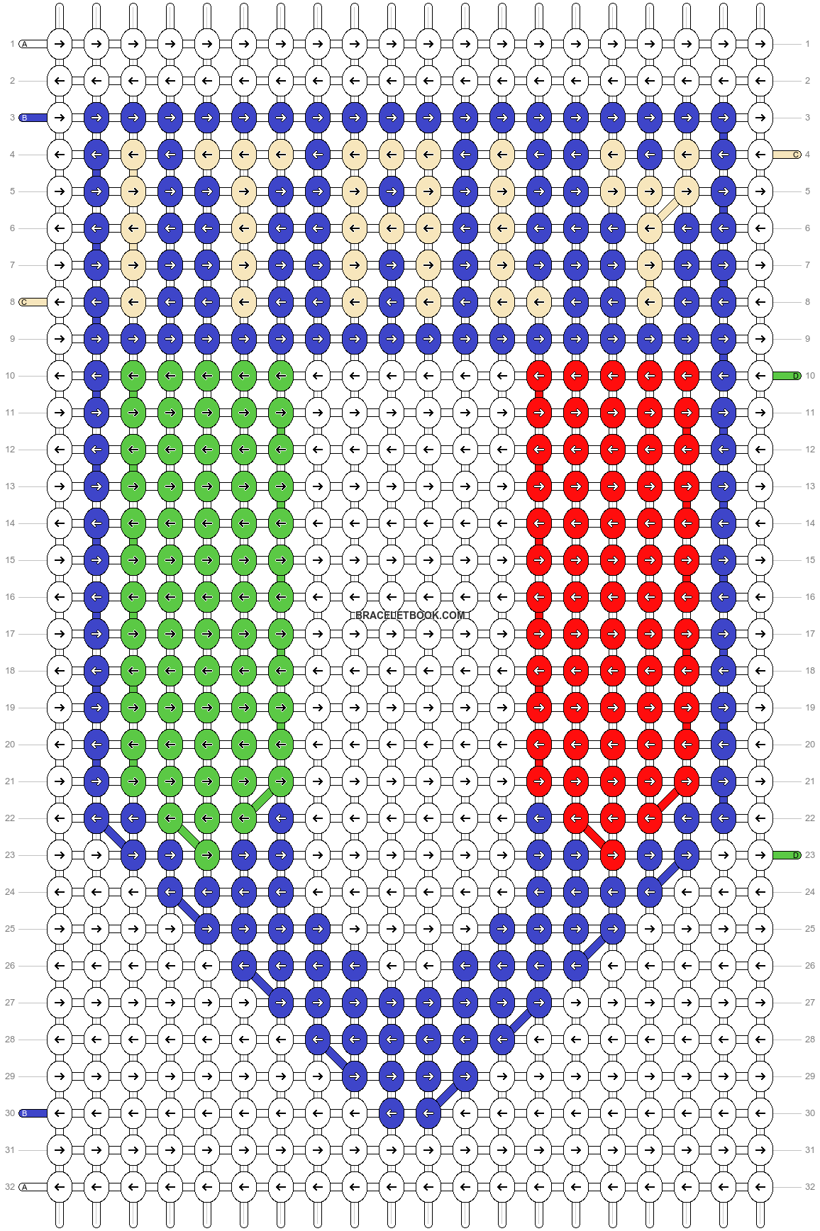 Alpha pattern #14101 pattern