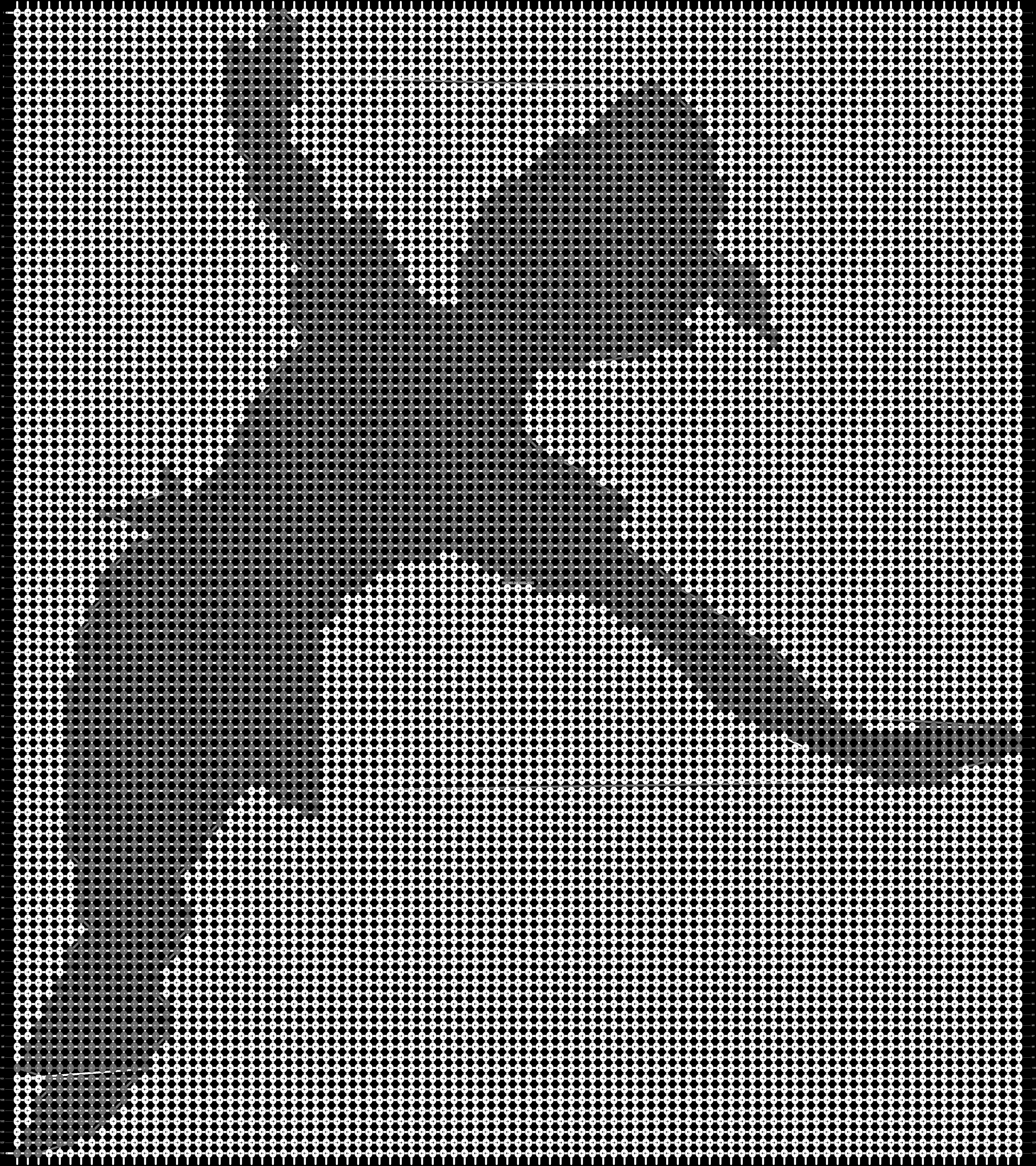Alpha pattern #14124 pattern