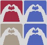 Alpha Friendship Bracelet Pattern #14164