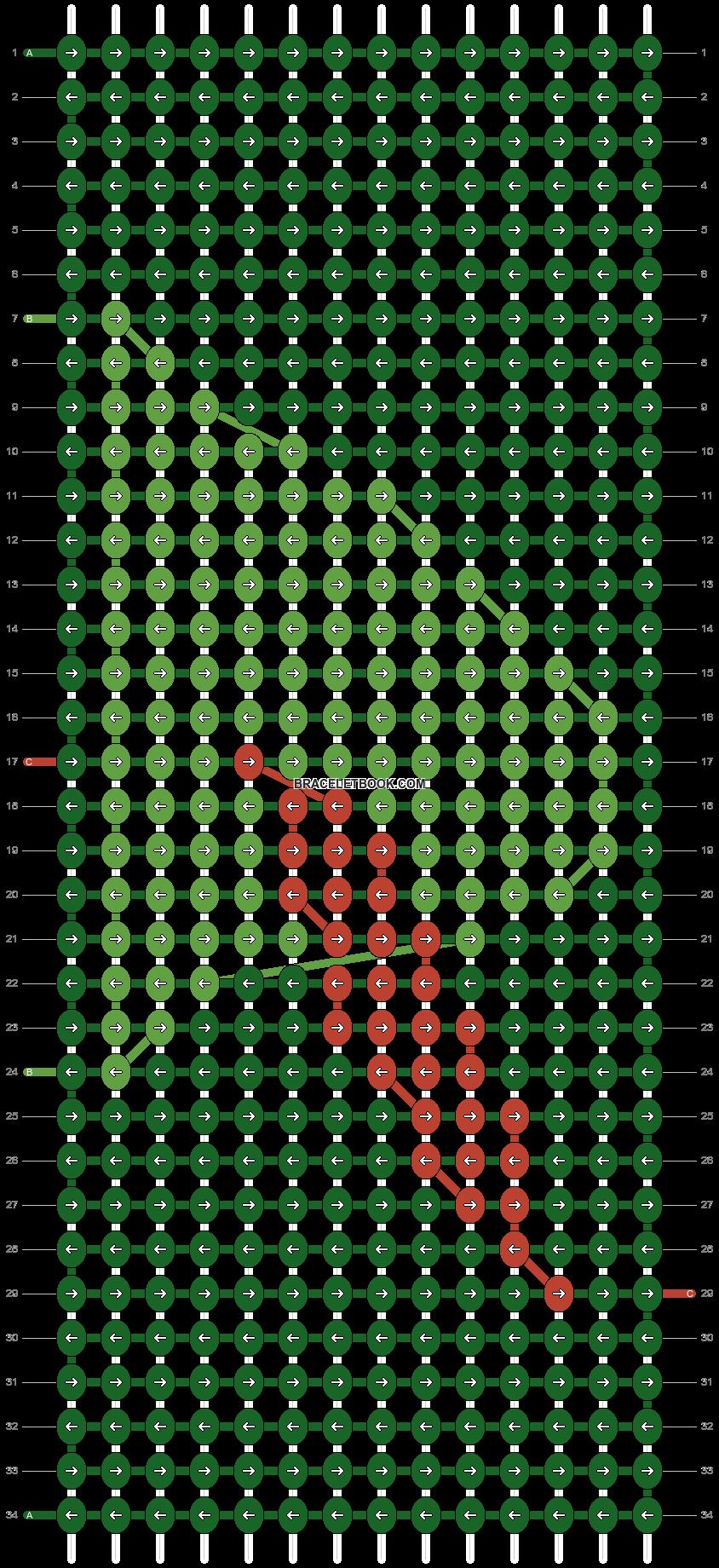 Alpha pattern #14260 pattern