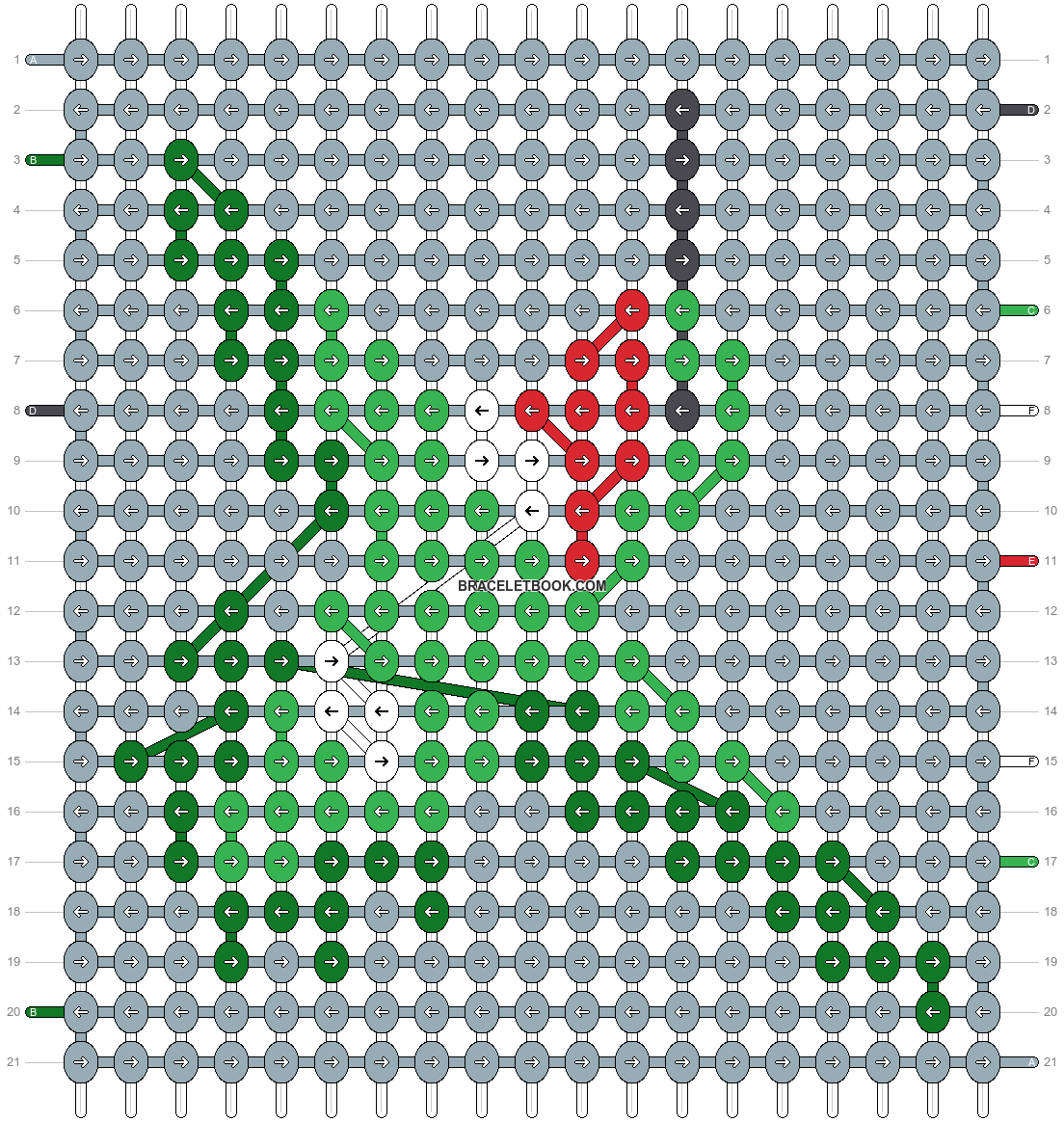 Alpha pattern #14282 pattern