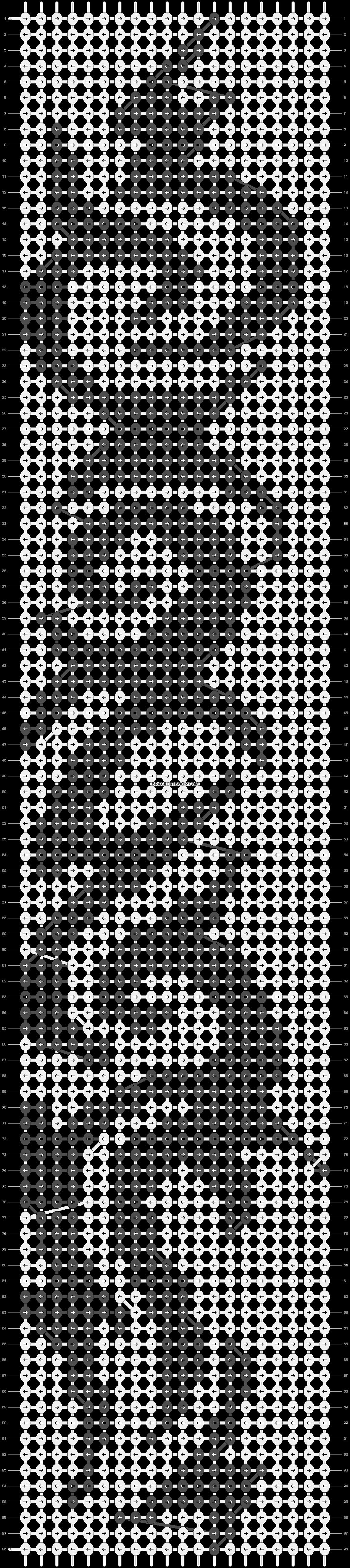 Alpha pattern #14452 pattern