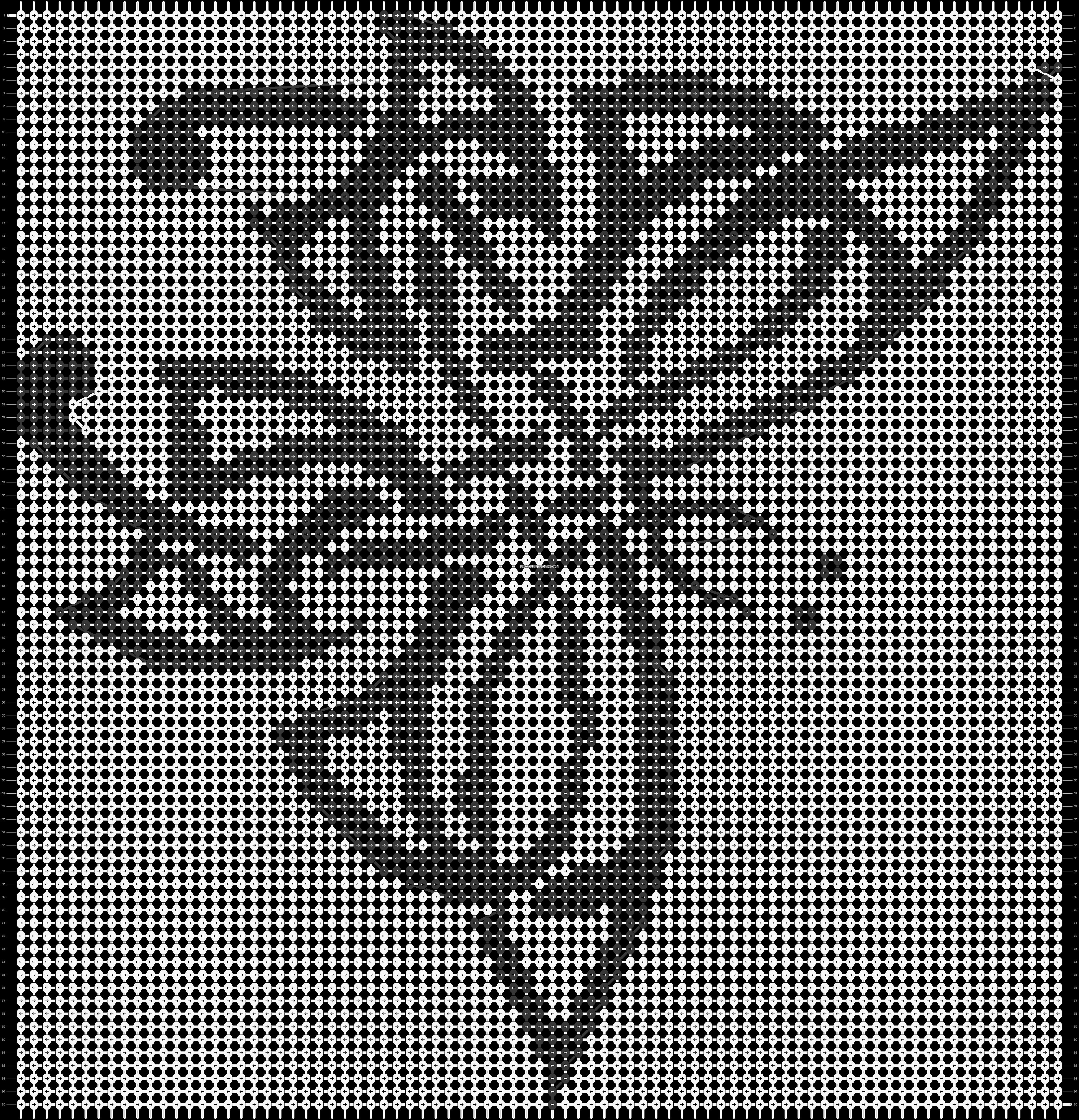 Alpha pattern #14454 pattern