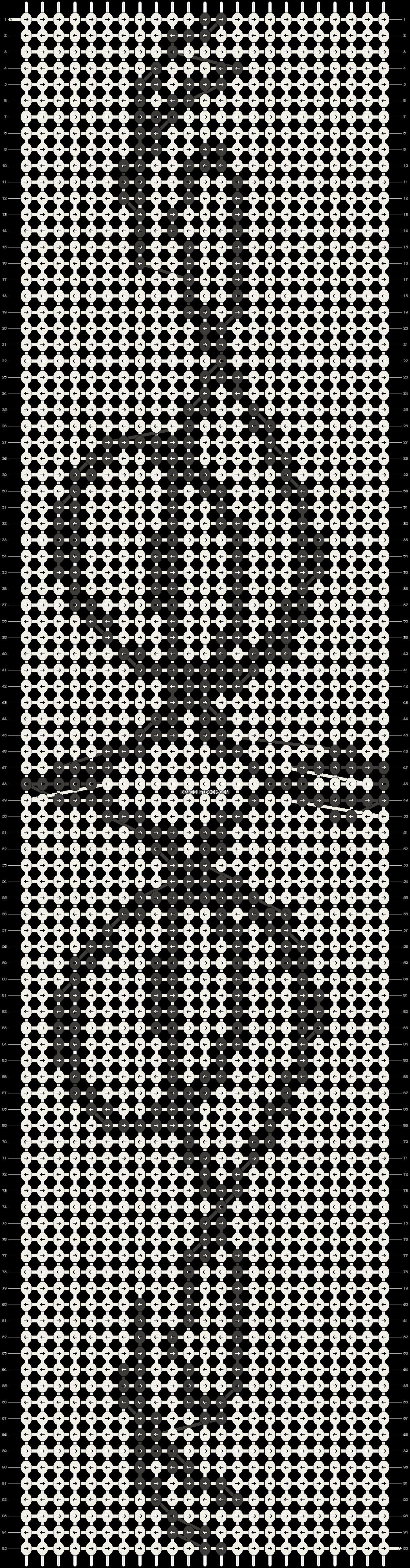 Alpha pattern #14520 pattern