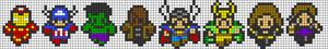 Alpha Friendship Bracelet Pattern #14531