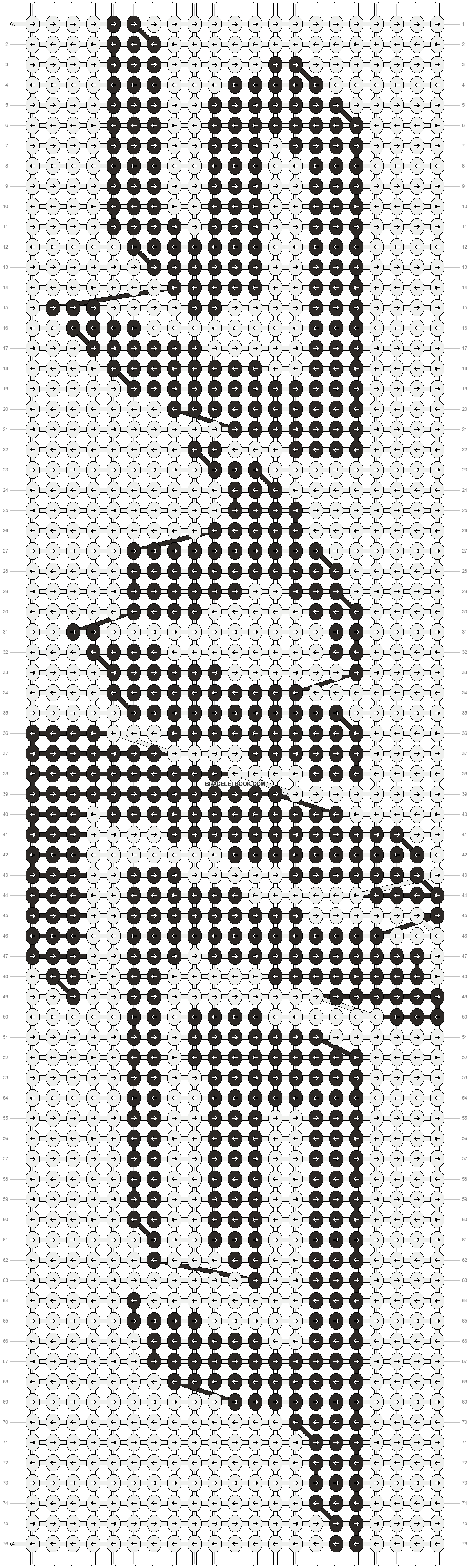 Alpha pattern #14556 pattern