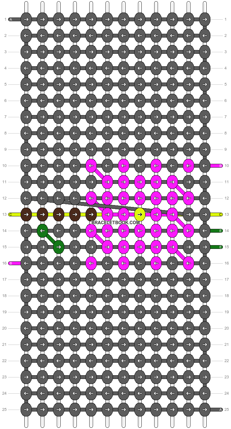 Alpha pattern #14570 pattern