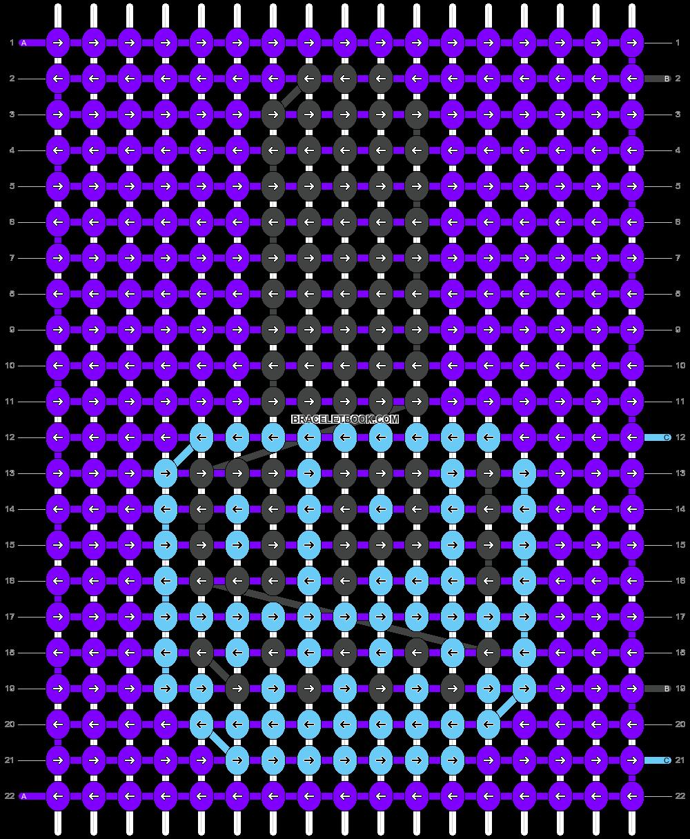 Alpha pattern #14576 pattern