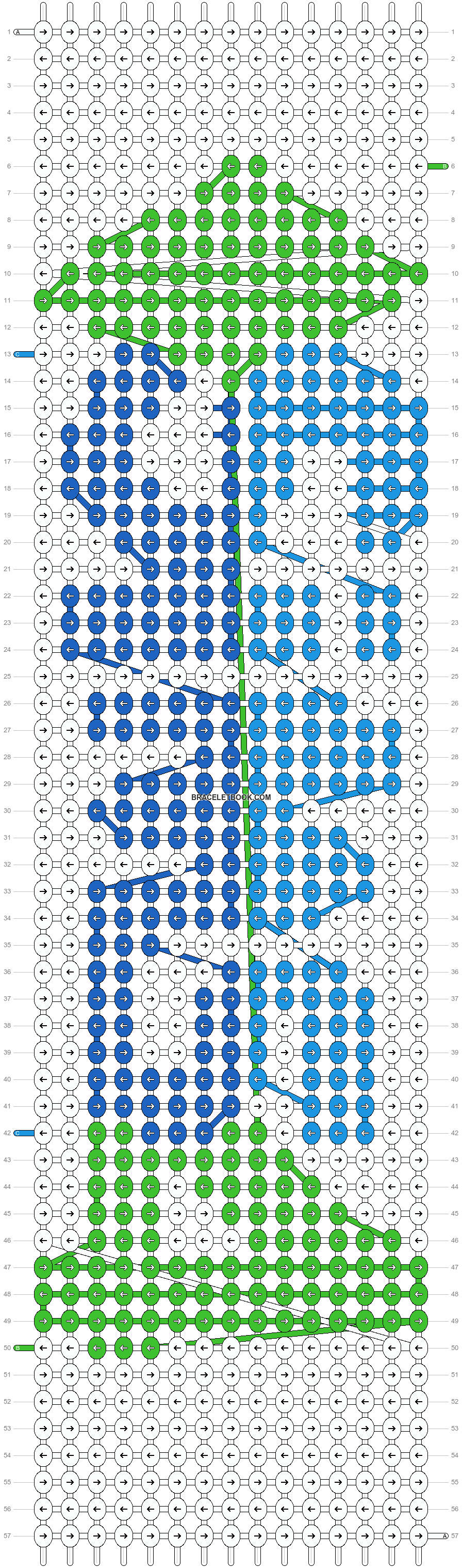 Alpha pattern #14592 pattern