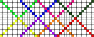 Alpha Friendship Bracelet Pattern #14656