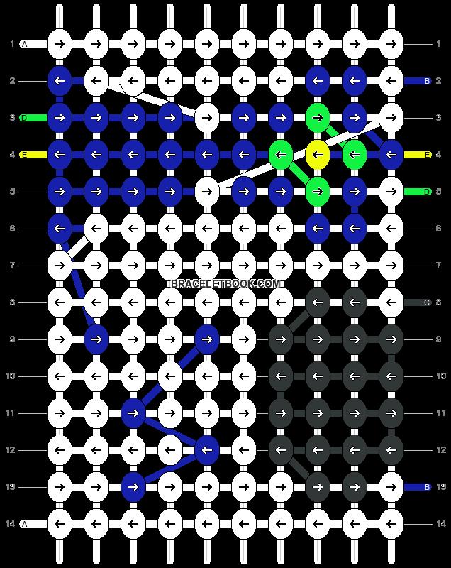 Alpha pattern #14722 pattern