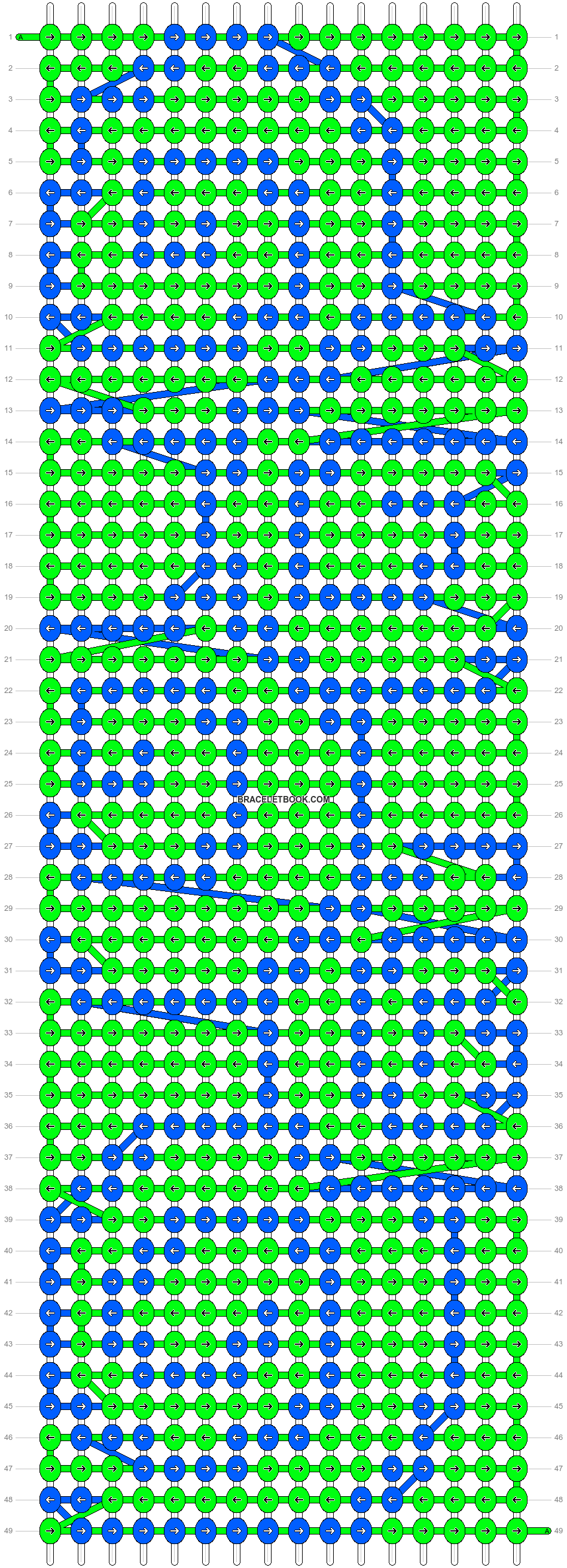 Alpha pattern #14808 pattern