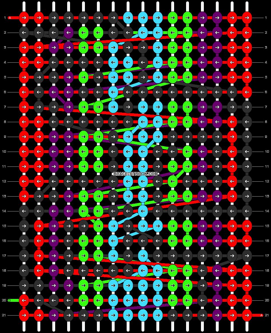 Alpha pattern #14809 pattern