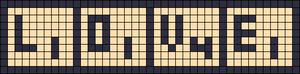Alpha Friendship Bracelet Pattern #15005