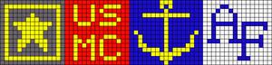 Alpha Friendship Bracelet Pattern #15767