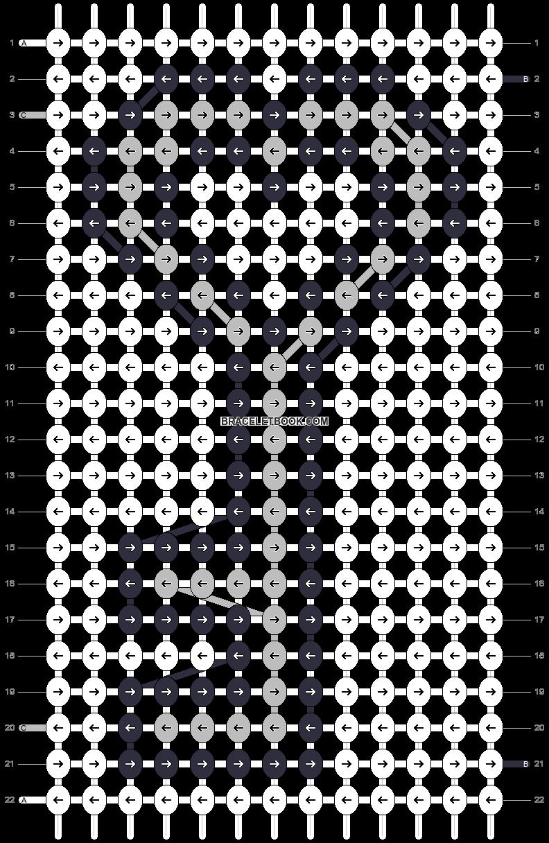 Alpha pattern #15851 pattern
