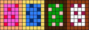 Alpha Friendship Bracelet Pattern #16765