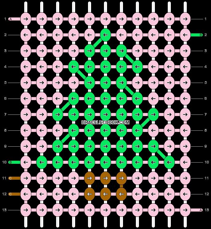 Alpha pattern #16966 pattern
