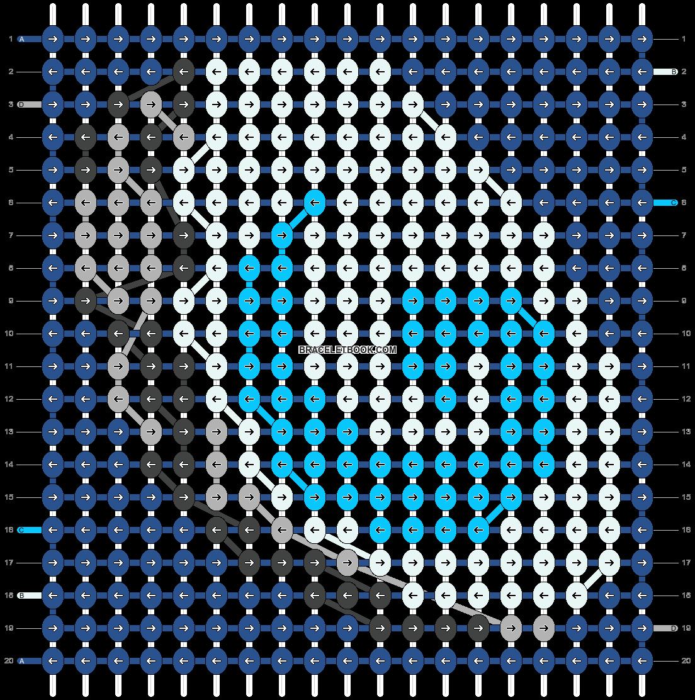 Alpha pattern #17004 pattern