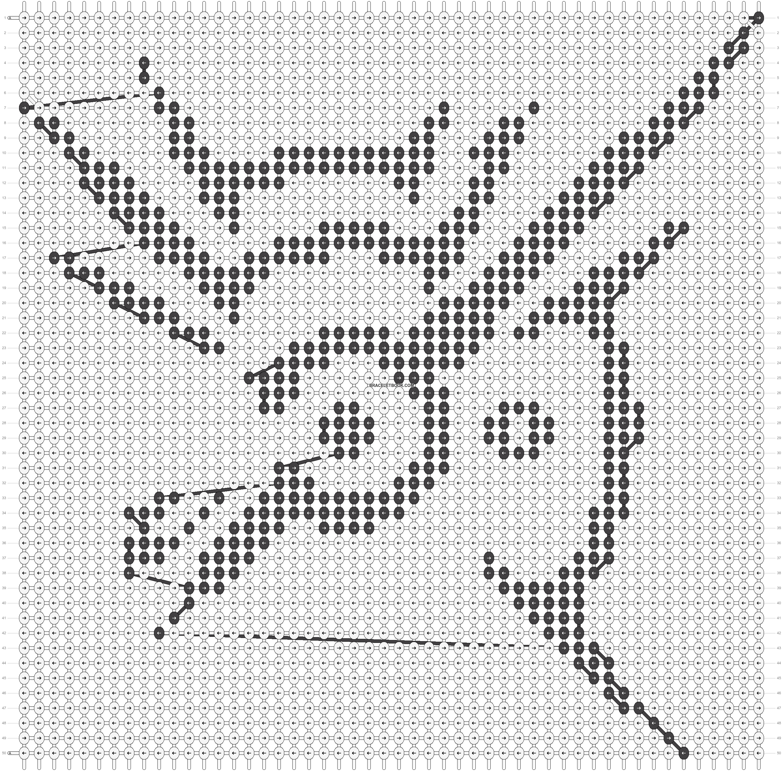 Alpha pattern #17020 pattern