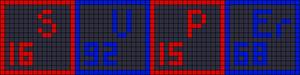 Alpha Friendship Bracelet Pattern #17071