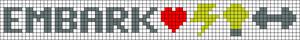 Alpha Friendship Bracelet Pattern #17330