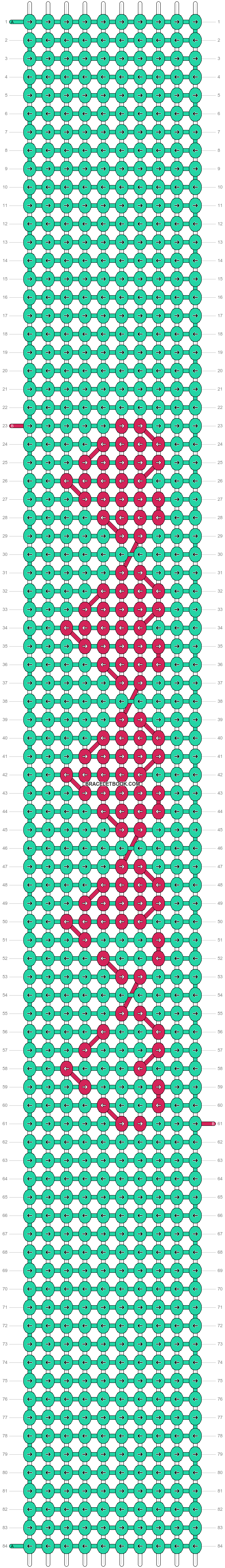 Alpha pattern #17376 pattern