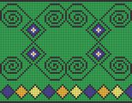 Alpha Friendship Bracelet Pattern #17506