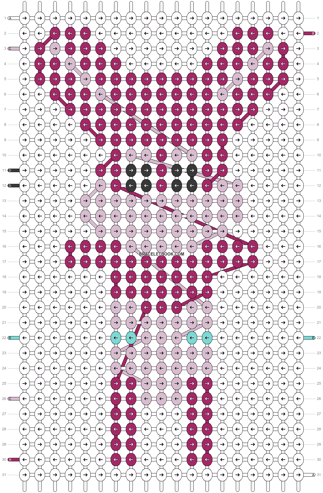 Alpha pattern #17951 pattern