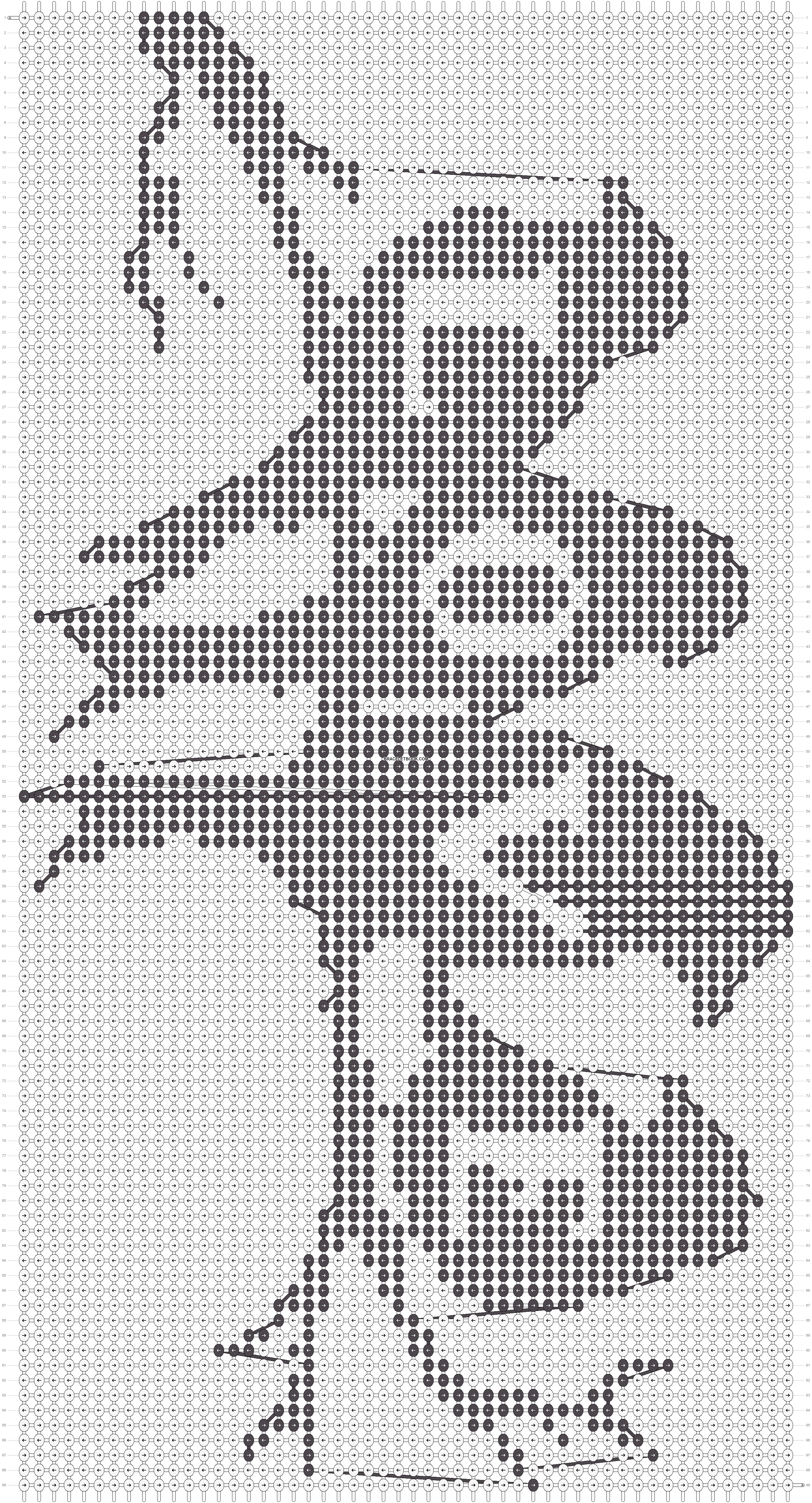 Alpha pattern #17961 pattern