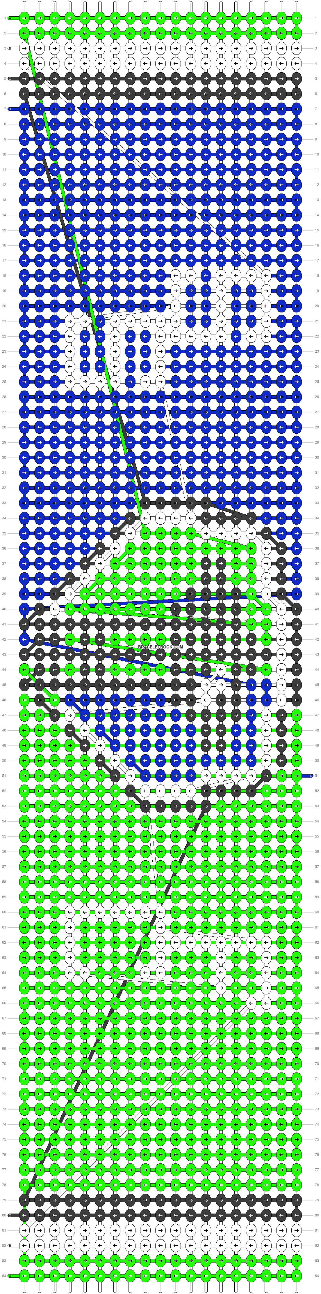 Alpha pattern #18003 pattern