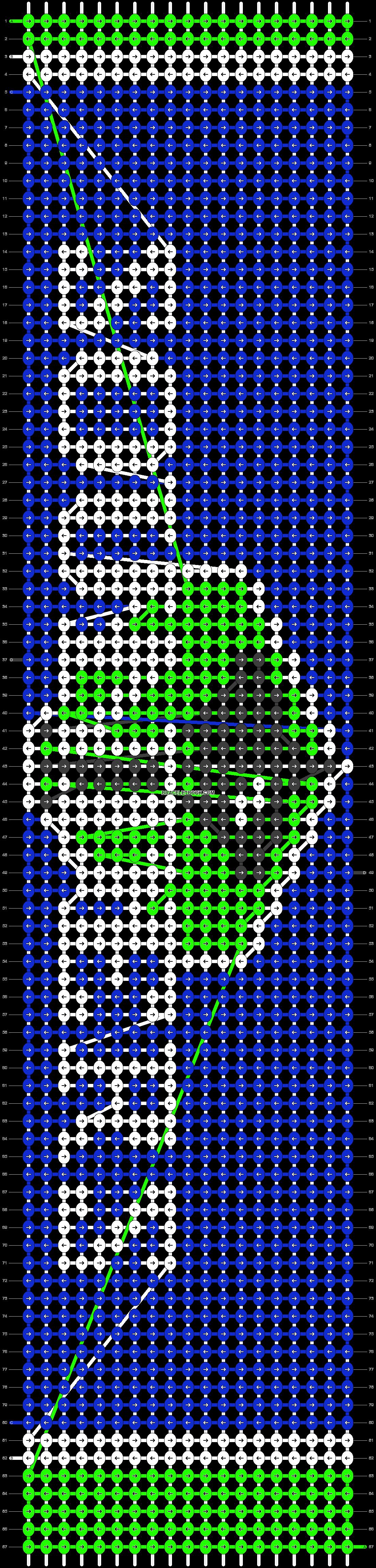 Alpha pattern #18006 pattern