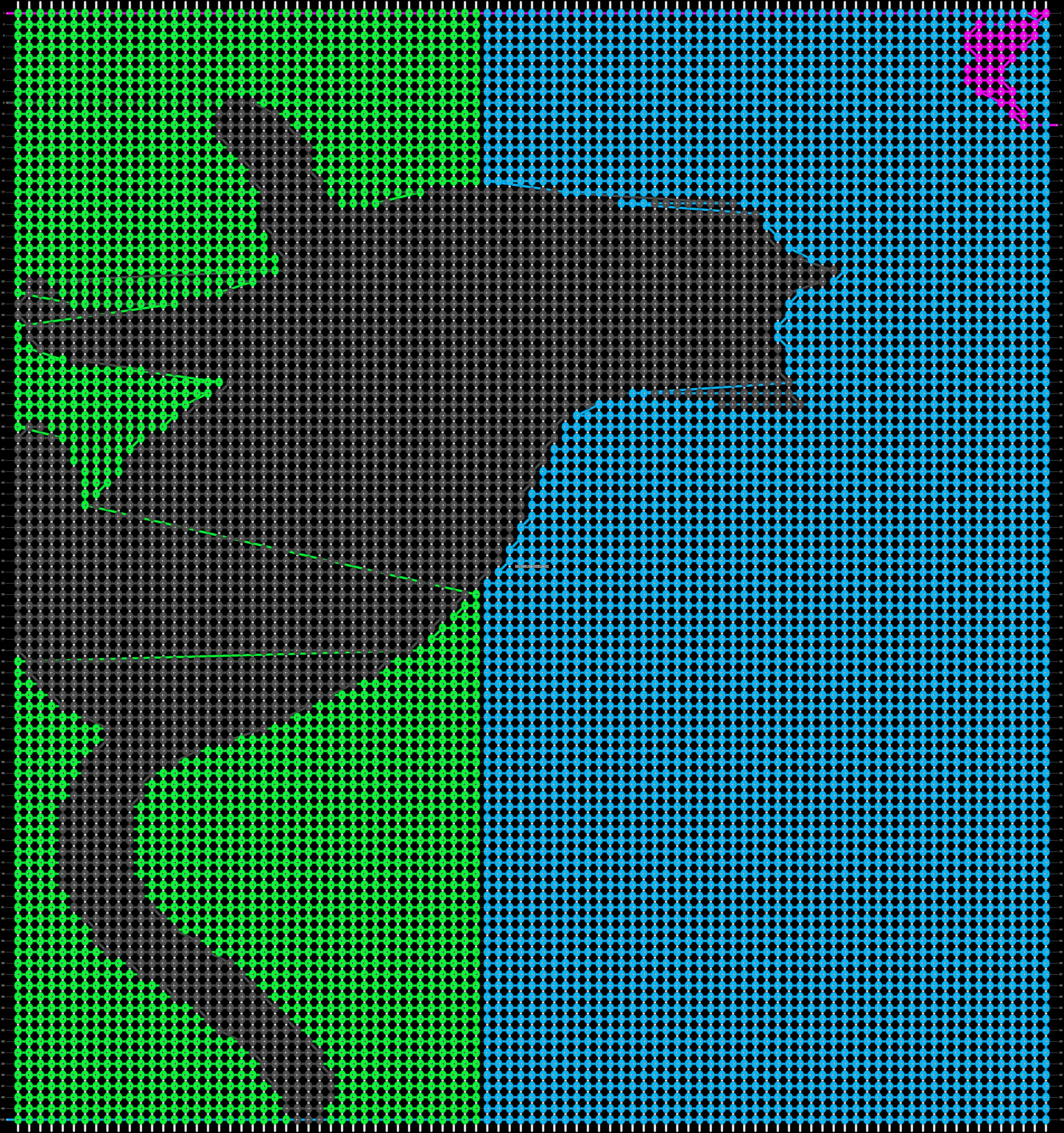 Alpha pattern #18118 pattern
