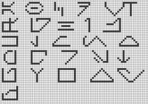 Alpha pattern #18257