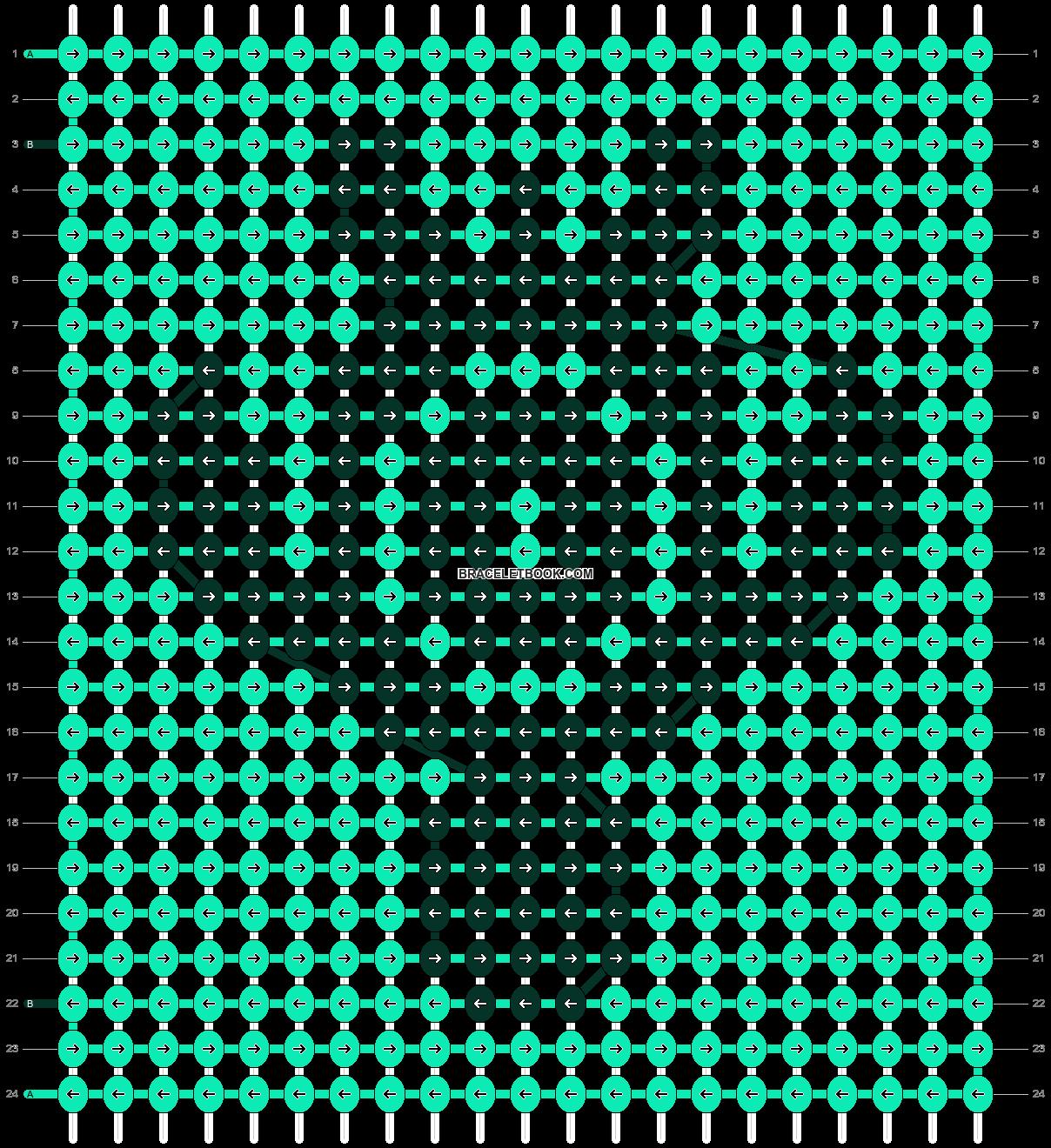 Alpha pattern #18300 pattern