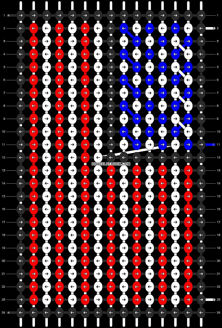 Alpha pattern #18301 pattern