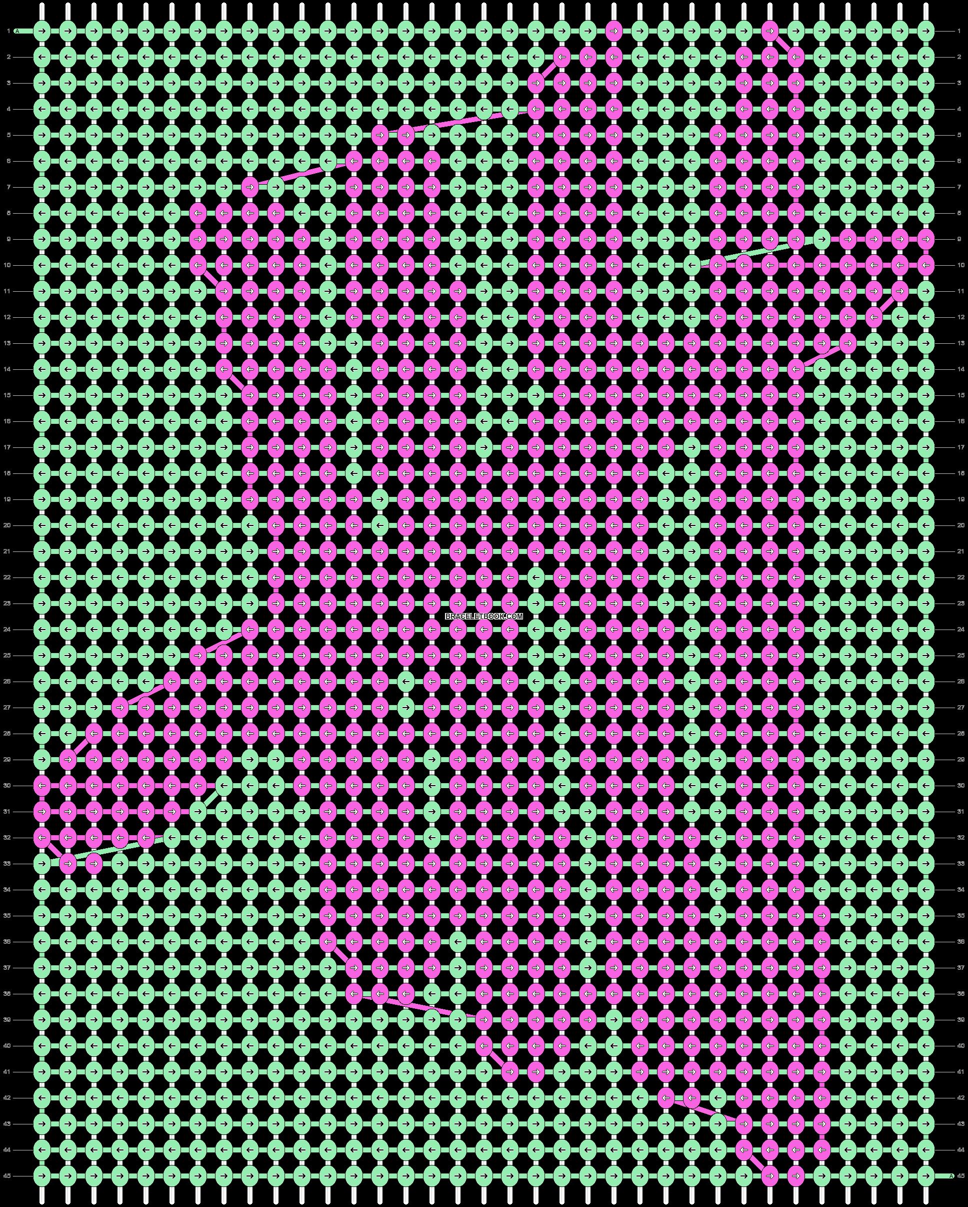 Alpha pattern #18400 pattern