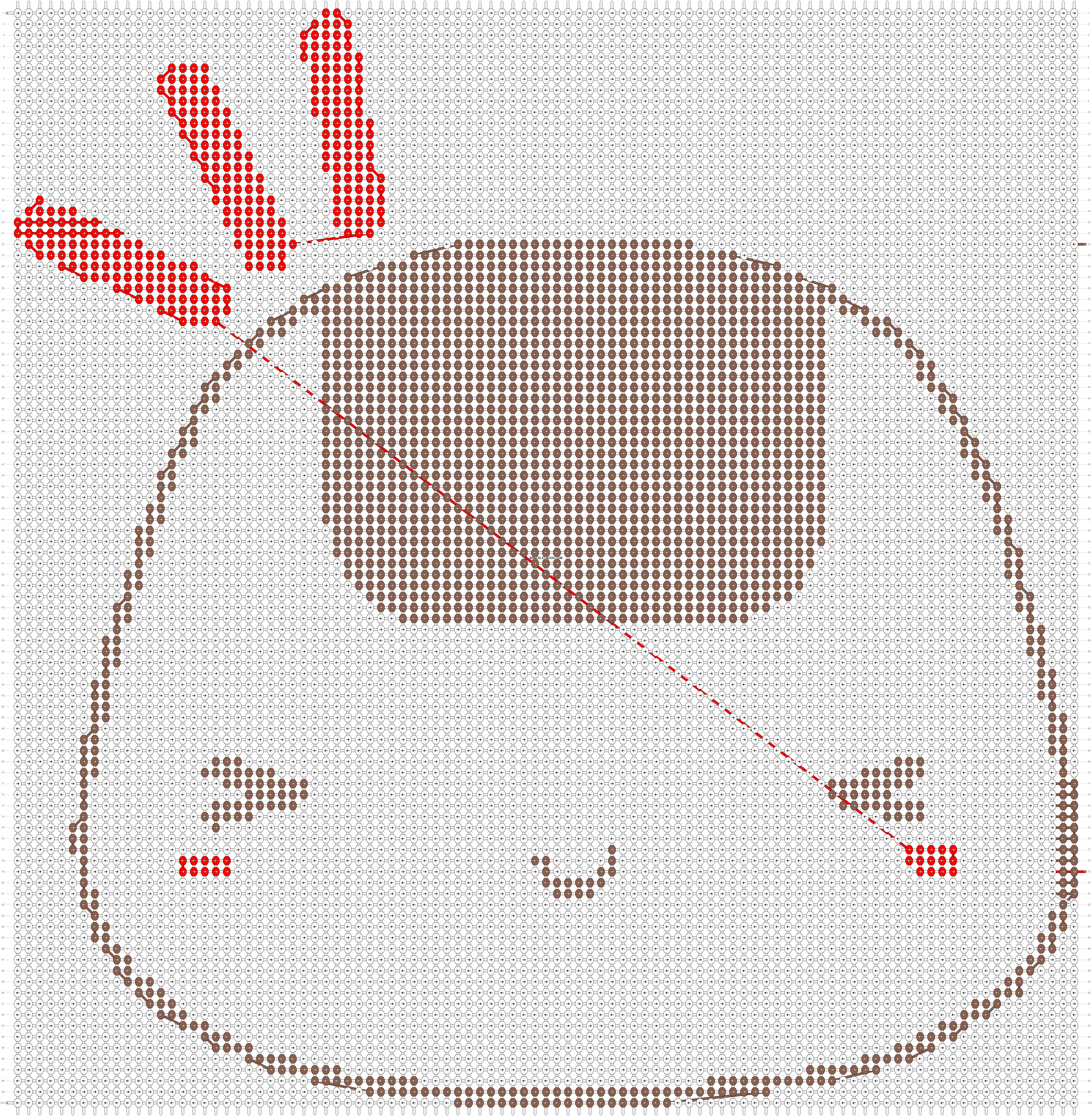 Alpha pattern #18406 pattern