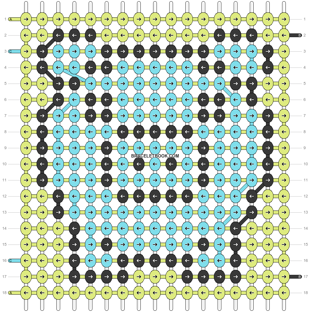 Alpha pattern #18424 pattern