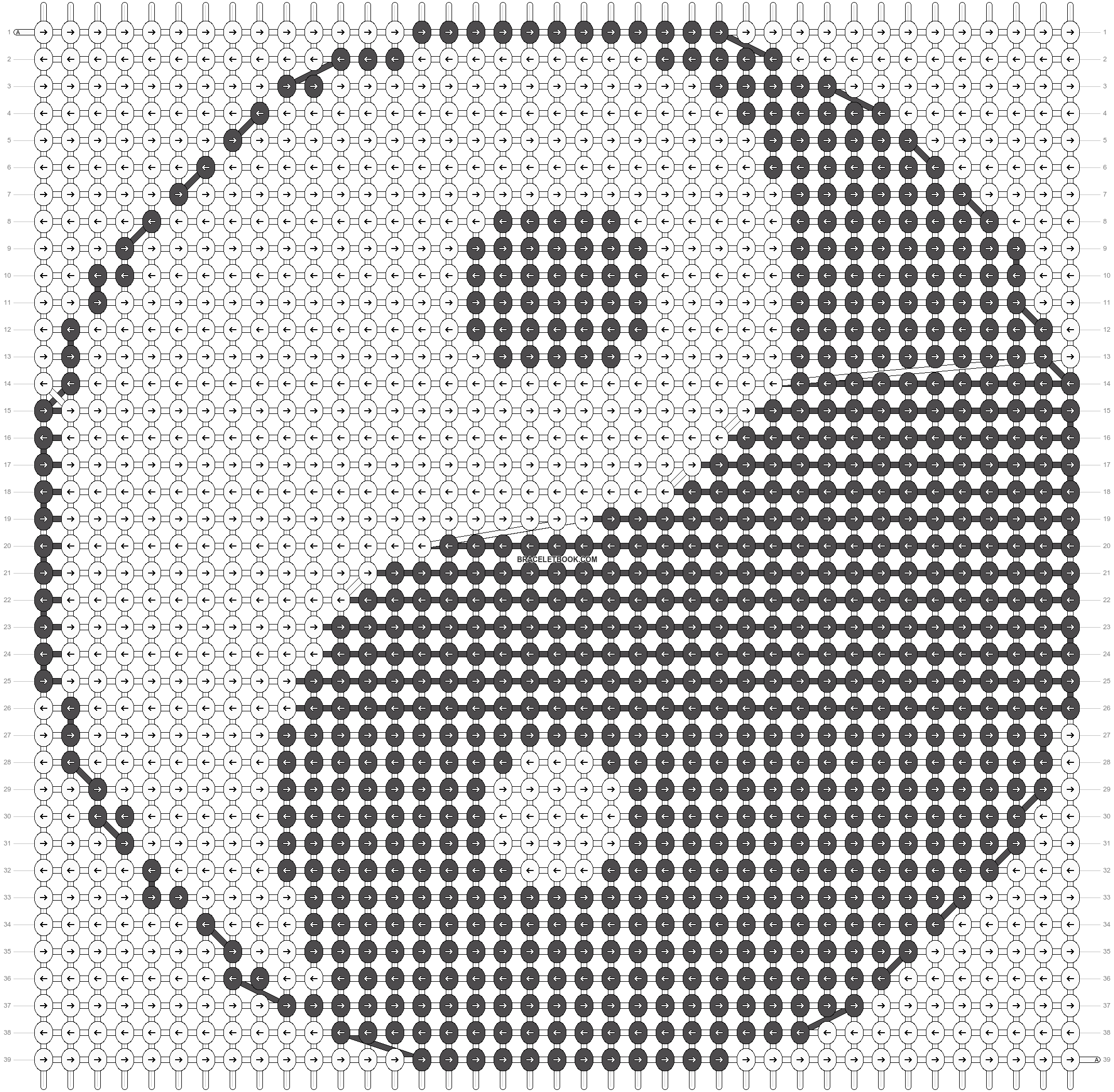 Alpha pattern #18496 pattern